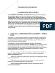 Organización de Documentos