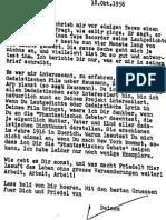 Letter from Richard Huelsenbeck to Hans Richter