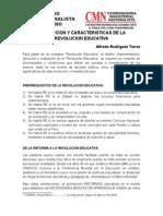 CONCEPCION Y CARACTERISTICAS DE LA REVOLUCION EDUCATIVA[1].doc