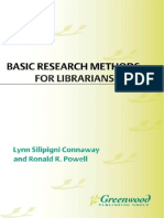 Basic Research Methods for Librarians 5th Edition 2010