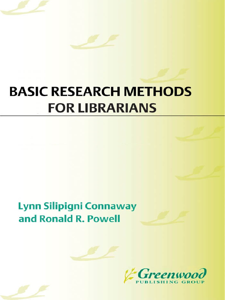 Basic research methods for librarians 5th edition 2010 qualitative basic research methods for librarians 5th edition 2010 qualitative research quantitative research fandeluxe Image collections