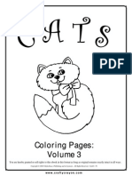 Cats Coloring Pages Vol 3