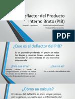 Deflactor Del Producto Interno Bruto (PIB)