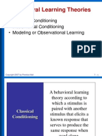 Behavioral Learning Theories