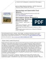 Participatory Action Research in Agroecology Building Local Organic Food Networks in Spain