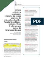 Hiperaldosteronismo Primario y Secundario. Síndrome de Exceso Aparente de Mineralocorticoides. Pseudohiperaldosteronismo. Otros Trastornos Por Exceso de Mineralocorticoides