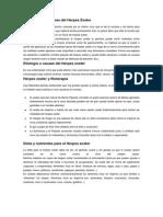 Definición y Síntomas Del Herpes Zoster