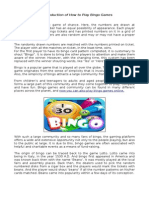 Introduction of How to Play Bingo Games
