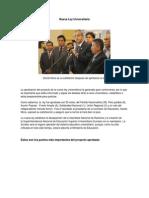 POLITICA - Nueva Ley Universitaria
