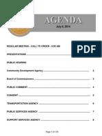 Agenda  7-8-2014