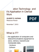 The Application of Information Technology on Secretarial & Clerical Work