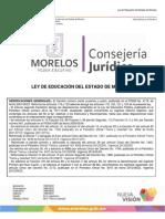 Ley de Educacion de Morelos 2013