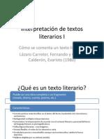 Interpretación de Textos Literarios I