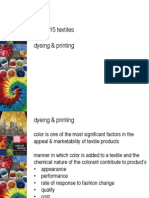 Week 15--Dyeing and Printing