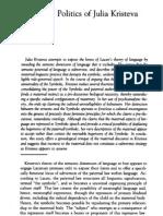 Judith Butler - La politica del cuerpo de Julia Kristeva