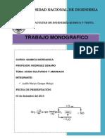 Acido Sulfurico y Amoniaco