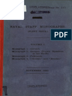Naval Staff Monographs Vol. I - Admiralty
