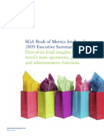 Us Retail SGA Book of Metrics 021010