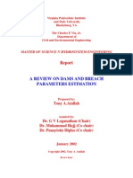 A Review on Dams & Breach Parameters Estimation (2002) - Report (120)