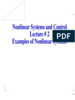 Lect_2 Examples of Nonlinear  Systems