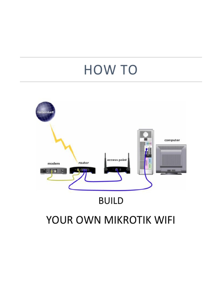 How to Build Your Own Mikrotik Wifi   Ip Address   Router (Computing)