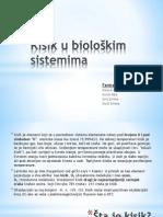 Kisik u Biološkim Sistemima