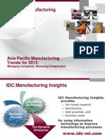 IDC MI- Manufacturing insights