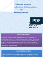 Accounting concept and convention