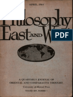 Philosophy East and West Year 1964 Month April