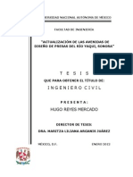 Actualización de las Avenidas de Diseño de Presas Del Río Yaqui, Sonora (2012) - Tesis (147)