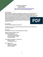 MKTG 3825 Digital Marketing Kornish Fall 2012 Syllabus