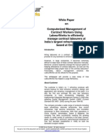 White Paper on Inplermentation of Labourworks at Large Industrial Unit in Northen India.