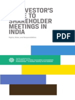 Investor's Guide to Shareholder Meetings in India