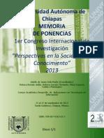 Memoria 1er Congreso Internacional de Investigacion Perpectivas en La Sociedad Del Conocmiento