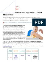 Diversificarea Alimentatiei Sugarului - Tabelul Alimentelor - Introducerea Alimentelor Solide _ Clubul Bebelusilor