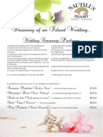 Nautilus Resort Wedding Packages E-brochure 2014-2016