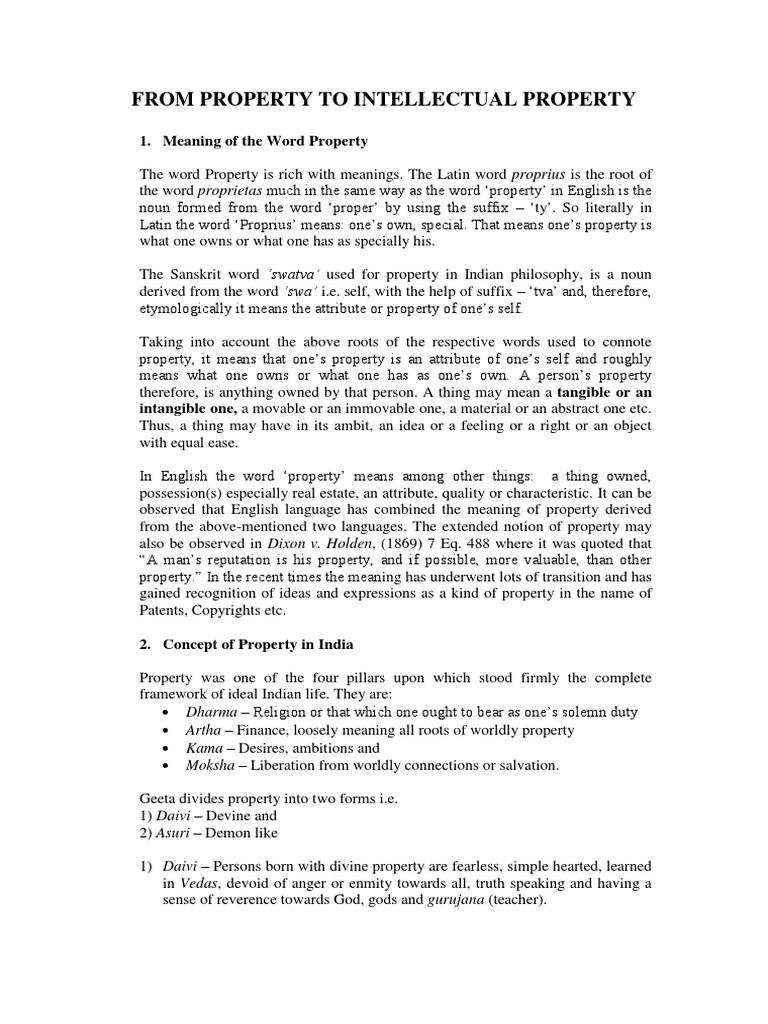 IPR Concept of Property | Moksha | Propiedad