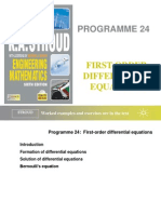 Prog 24 First-Order Differential Equations