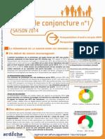 La Conjoncture Touristique en Ardèche (2014)