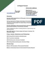 2010 Academic CV PhD