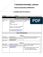 Counseling Schedule NIC 24 June 2014
