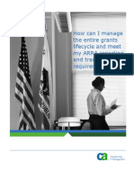 CA Clarity Grants Manager on Demand Solution Brief
