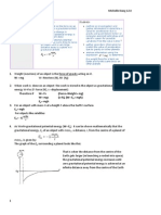 HSC Space Notes