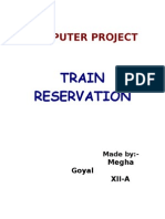 Train reservation System C++ project