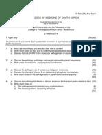 FC Path(SA) Anat Part I Past Papers - 2014 1st Semester 7-7-2014