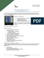 Advanced VSAT 1.5.1 Product Bulletin