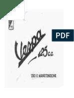 Manuale Uso Manutenzione Vespa 125 Faro Basso