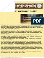 Building Your Own Lathe