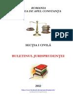 CA Constanta Buletinul Jurisprudentei Civil 2012 Pt REALE