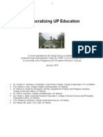 Democratizing UP Education (January 2014)
